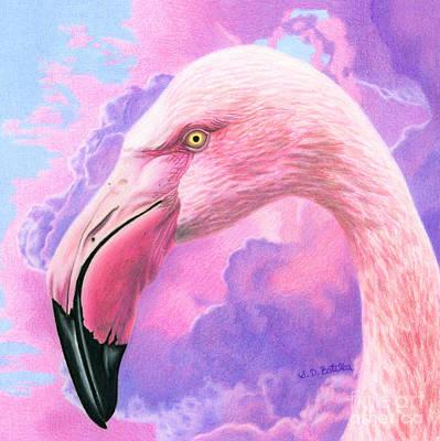 Think Pink Flamingo Poster by Sarah Batalka
