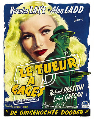 This Guns For Hire, Veronica Lake, Alan Poster by Everett