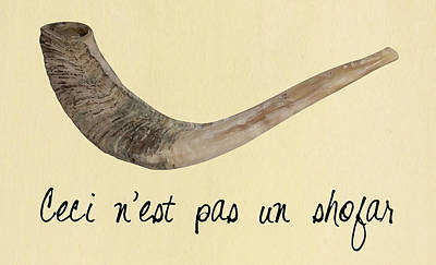 This Is Not A Shofar Poster by Anshie Kagan