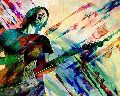 Thom Yorke - Radiohead - Original Painting Print Poster by Ryan Rock Artist