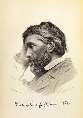 Thomas Carlyle Poster by Middle Temple Library