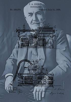 Thomas Edison's Invention Poster by Dan Sproul