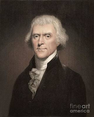 Thomas Jefferson, 3rd U.s. President Poster by Paul D. Stewart