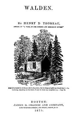 Thoreau Walden, 1875 Poster by Granger