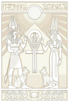 Thoth And Isis Poster by Matthew Kocvara