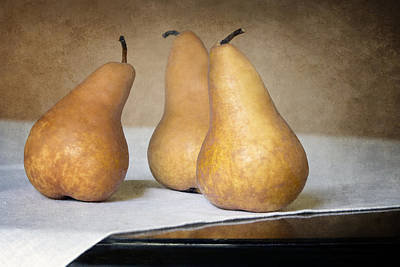 Three Bosc Pears - Traditional Still Life Poster by Nikolyn McDonald