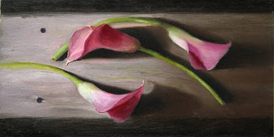 Three Calla Lilies Poster by Beth Johnston