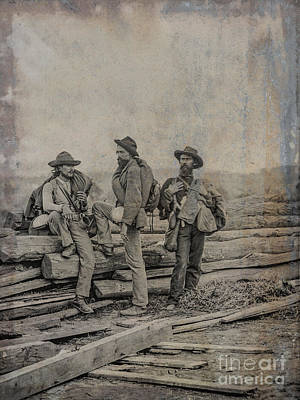 Three Confederate Prisoners Gettysburg Poster by Randy Steele
