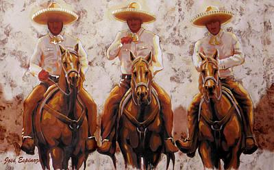 Three Friends Poster by Jose Espinoza
