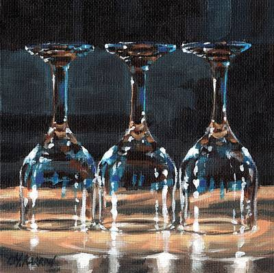 Three Glasses 2 Poster by Christine Karron