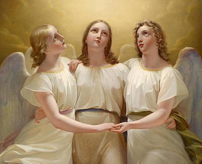 Three Guardian Angels Poster by Franz Kadlik