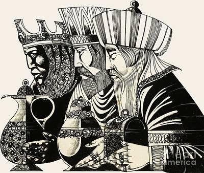 Three Kings Poster by Richard Hook