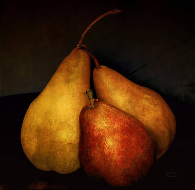 Three Pears Poster by Julie Palencia