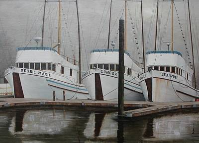 Three Sisters Docked Poster by Roberta Wise