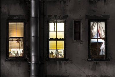 Three Windows And Pipe - The Story Behind The Windows Poster by Gary Heller