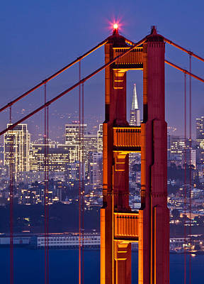 San Francisco Through The Letterbox Poster by Alexis Birkill