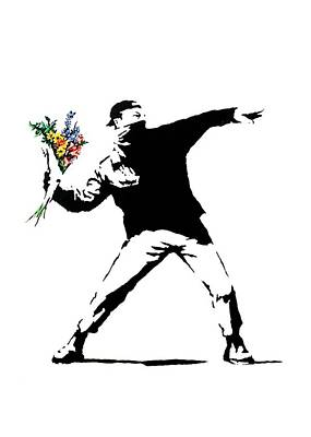 Throwing Love Poster by Munir Alawi