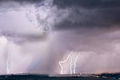 Thunder And Light Poster by Leland D Howard