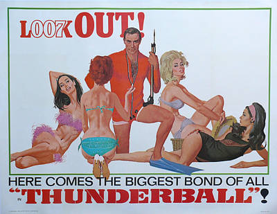 Thunderball Poster by Georgia Fowler