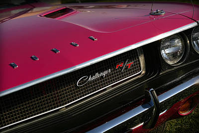Tickled Pink 1970 Dodge Challenger R/t Poster by Gordon Dean II