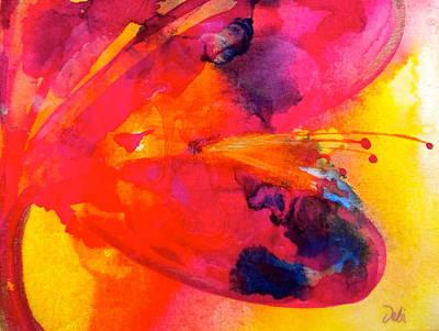 Tie Dye Wishes Poster by Debi Starr
