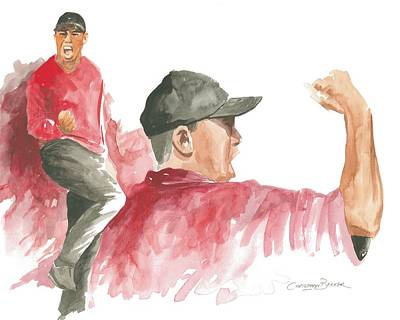 Tiger Woods Poster by Christiaan Bekker