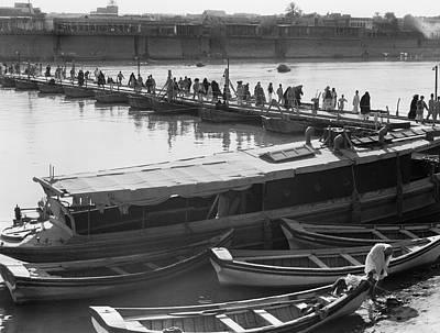 Tigris River Bridge Poster by Underwood Archives