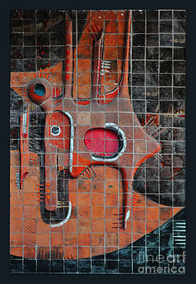 Tile Cubism - Spain Poster by Mary Machare