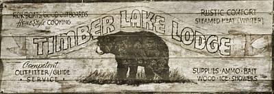 Timber Lake Lodge Poster by Dan Sproul