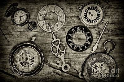 Time Explored In Black And White Poster by Paul Ward