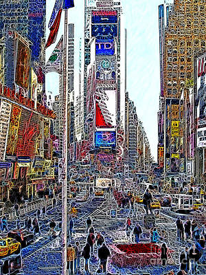 Time Square New York 20130503v6 Poster by Wingsdomain Art and Photography