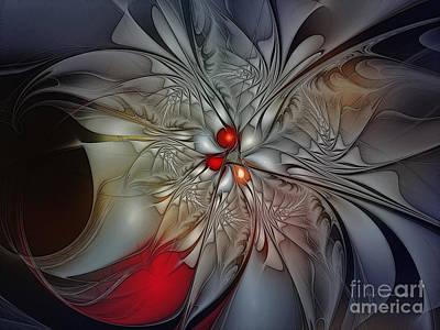 Timeless Elegance-floral Fractal Design Poster by Karin Kuhlmann