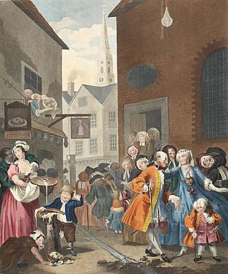 Times Of The Day Noon, Illustration Poster by William Hogarth