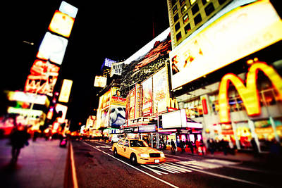 Times Square At Night - New York City Poster by Vivienne Gucwa