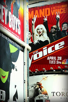 Times Square Billboards Poster by Valentino Visentini