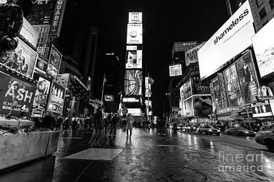 Times Square Mono Poster by John Farnan