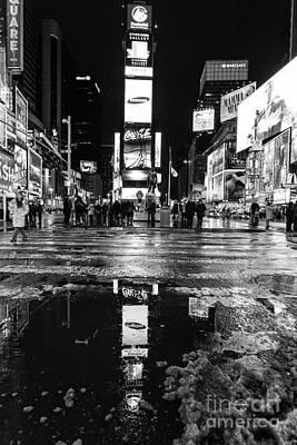 Times Square Monochromatic  Poster by John Farnan