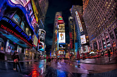 Times Square New York City The City That Never Sleeps Poster by Susan Candelario