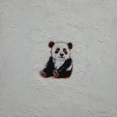 Tiny Panda Poster by Michael Creese