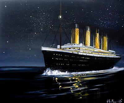 Titanic - Iceberg Dead Ahead Poster by Vikki Hastings