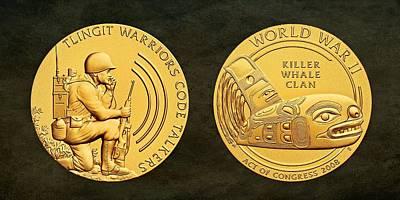 Tlingit Tribe Code Talkers Bronze Medal Art Poster by Movie Poster Prints