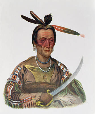 To-ka-cou, A Yankton Sioux Chief, 1837, Illustration From The Indian Tribes Of North America Poster by George Cooke