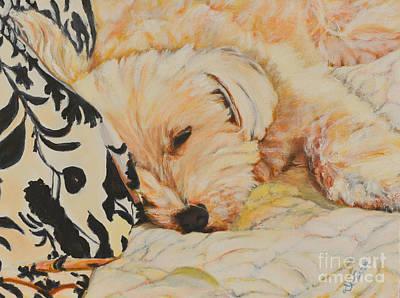 Tobi Sleepy Head Poster by Deborah Fisher