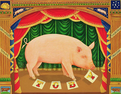 Toby The Learned Pig Poster by Frances Broomfield