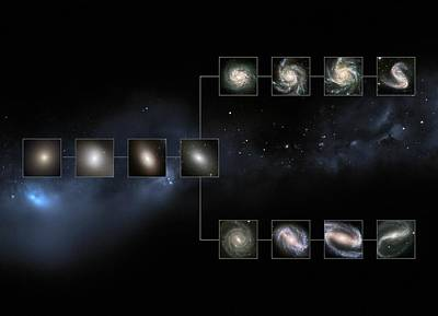 Today's Universe Poster by European Space Agency/nasa/m. Kornmesser