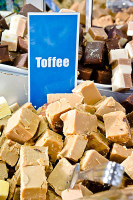Toffee Fudge Poster by Tom Gowanlock