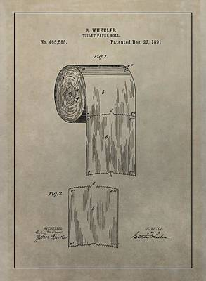 Toilet Paper Roll Patent Poster by Dan Sproul