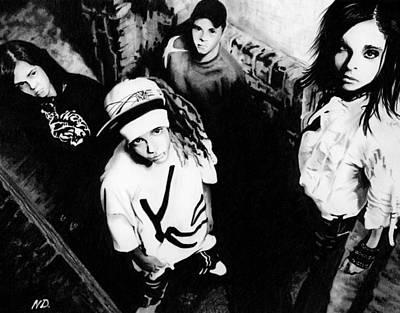 Tokio Hotel - Drawing Poster by Natasha Denger