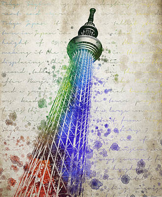 Tokyo Skytree Poster by Aged Pixel