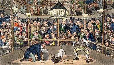 Tom And Jerry Sporting Their Blunt Poster by I. Robert & George Cruikshank